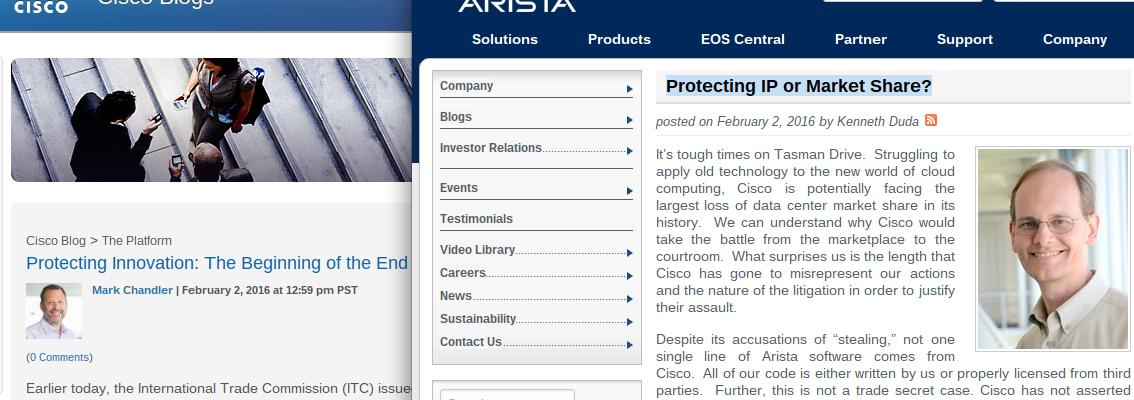 cisco arista court case