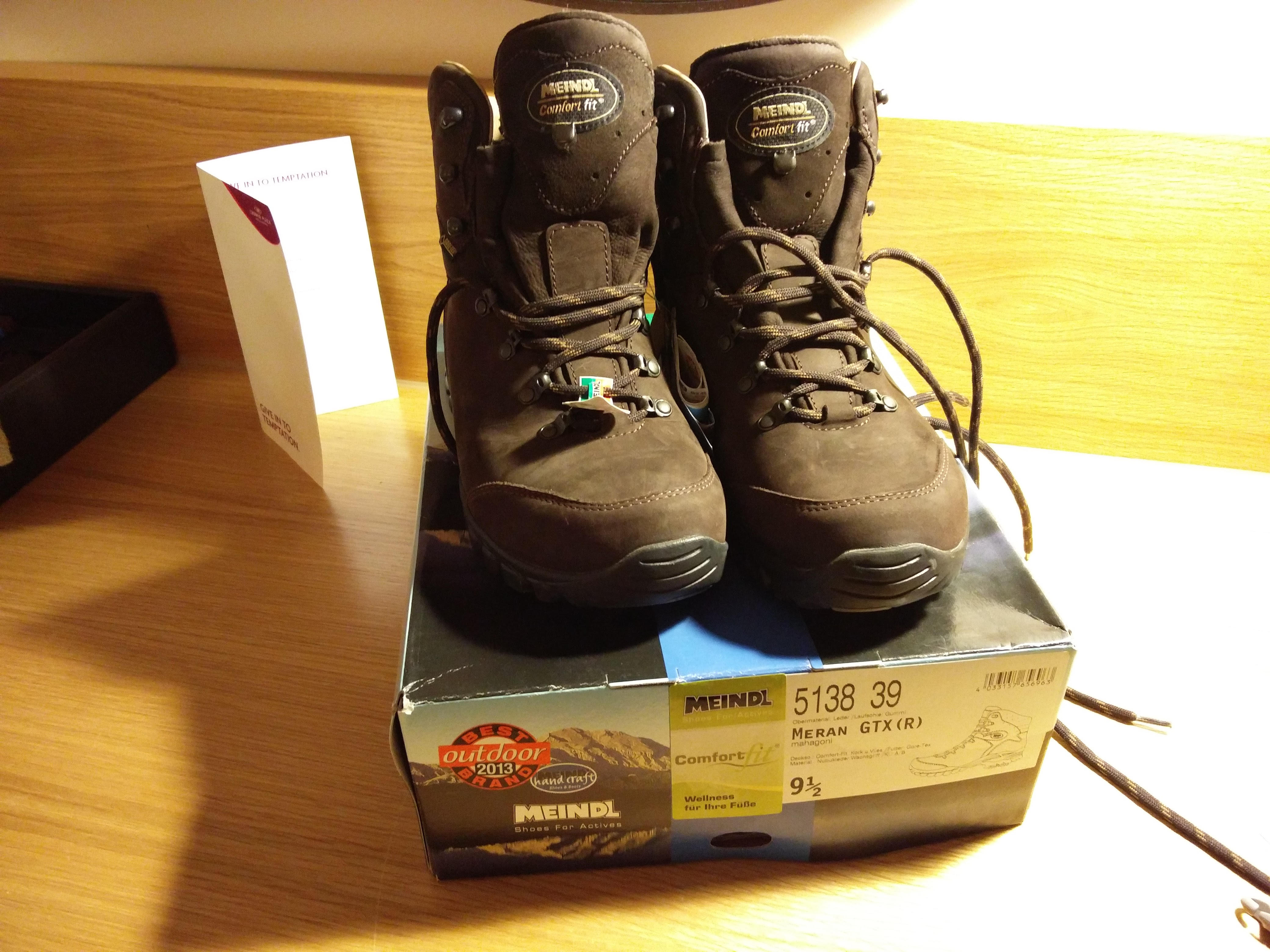 coast to coast walk preparation - my meindl boots