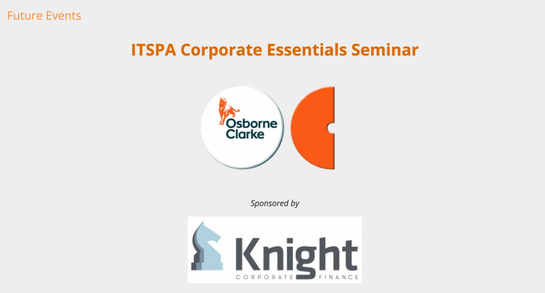 ITSPA Corporate Finance workshop
