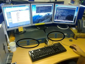 The 96 port switched desktop monitor stand