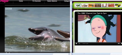 two video streams running off BBC iPlayer over FTTC