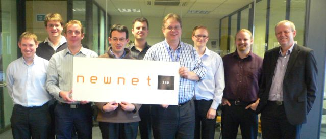 Photo of the NewNet and Timico Network Operations teams at the NewNet HQ in Fareham