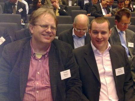 Trefor Davies with Colin Annette, Sales Director BT Wholesale