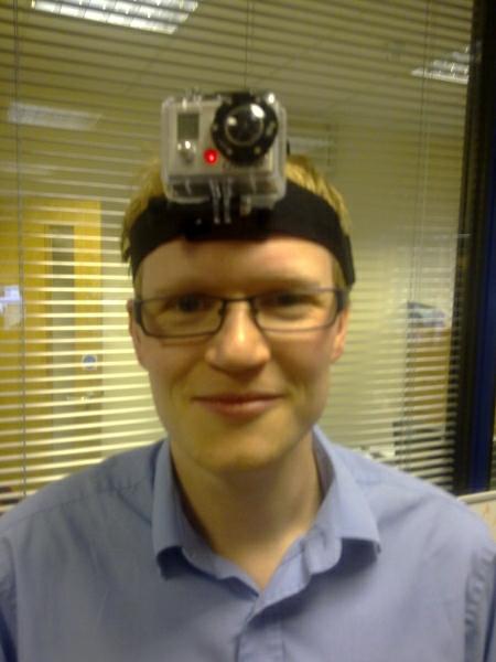 Pookey wearing the GoPro HD HERO