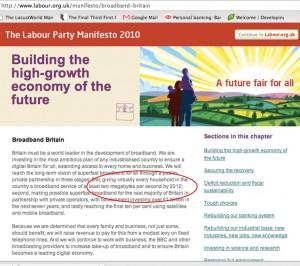 Labour Part Manifesto promises 2megabytes USC