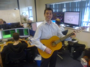 Jason Dackins of Genband plays Yviva Espana for the Timico NetOps department