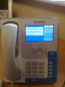 The SNOM870 VoIP handset