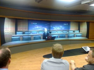 Polycom executive speaks to ITSPA from identical  telepresence room in Slough