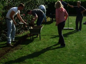 Villagers in Ashby De La Launde Lincolnshire digging their own trenches in preparation for FTTP