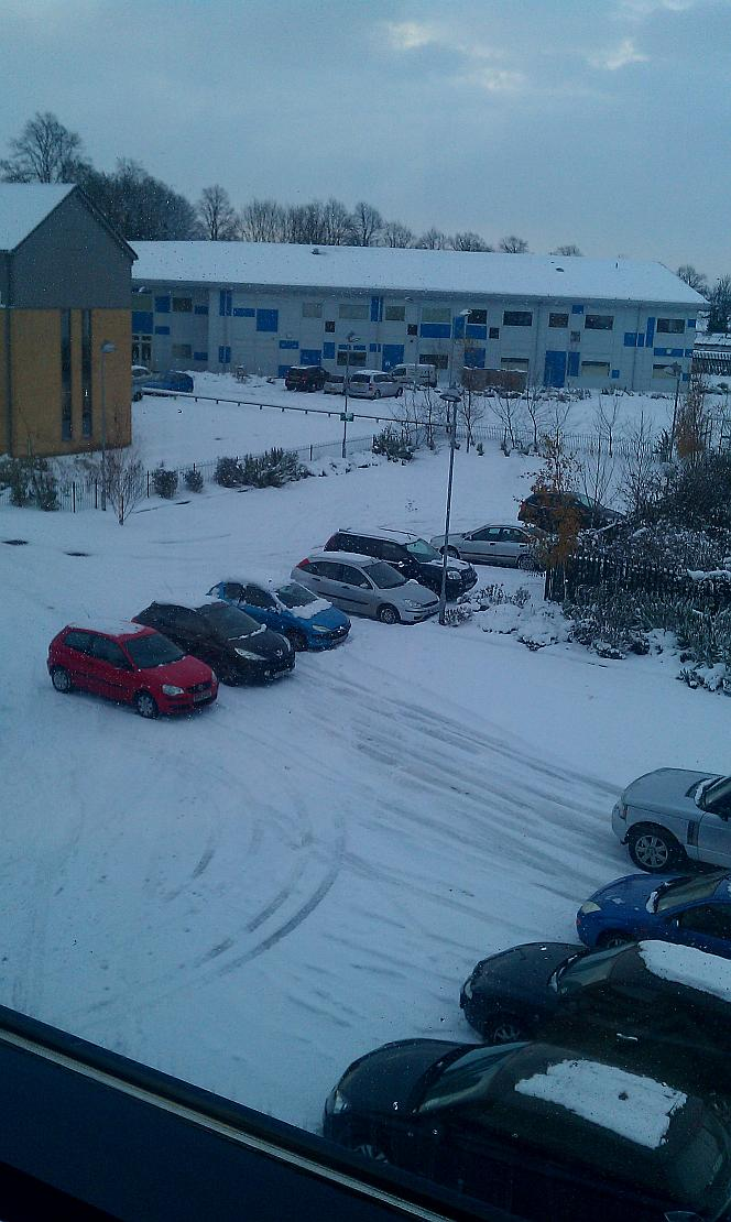 timico carpark in the snow