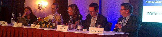 Sarah Montague of BBC Radio4 Today Programme chairs panel at Nominet Policy Forum