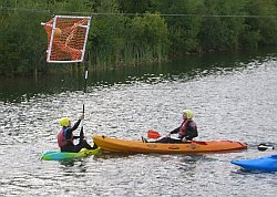 Timico kayak polo in action