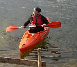 Trefor Davies at the Timico annual watersports and barbecue evening