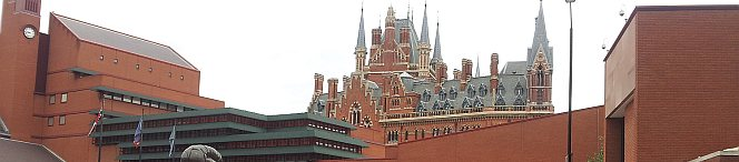 British Library with St Pancras Station in the background