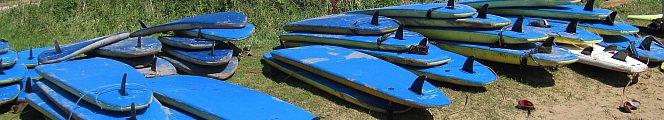 surfboards at Llangenith, Rhossili Beach, Gower