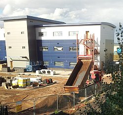 view of construction of new Timico datacentre