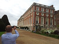 Fraser Anderson takes photo of Hampton Court with a view to applying for planning permission to convert to 500 flats