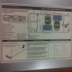 schematic diag of Cisco UCS B200 blade server t the Timico Newark Data centre