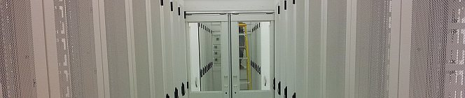 cold aisle - a cool place to be at the Timico Newark Data centre