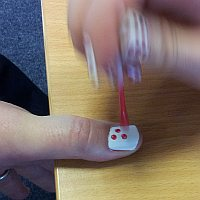 Timico Account Management Director Andrew has his nails done for Children in Need