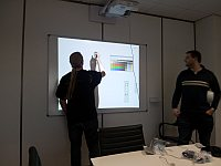 interactive white board in use at new Timico Network Operations Centre in Newark