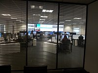 """view of the Timico NOC from inside """"manage"""" meeting room"""