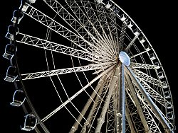 big wheel outside the Liverpool Echo Arena before last night of Paul McCartney tour
