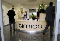 reception open for business at Timico datacentre in Newark