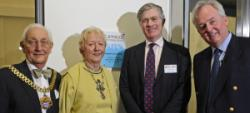 Mr Mayor, Madame Mayoress, Rt Hon Patrick MErcer MP and Mr Tim Radford attend the official opening of the Timico Newark Datacentre