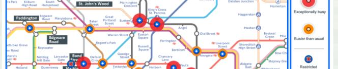 TfL interactive tool showing that London is going to be choked for much of the Olympics
