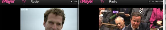iPlayer screenshots using 4G - multiple simultaneous streams