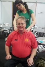 back massage at Infosec