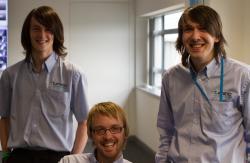 Luke, Cark and Ashley before the haircut