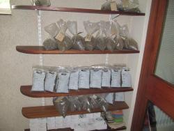 soil samples on shelves - simples