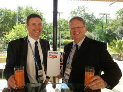 me with old uni pal Dr Phillip Davies - MD of component manufacturer Rakon
