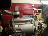 Peerless projector still in situ at the Kinema but now replaced by digital job