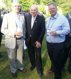 chatting with Vince cable and Colin Duffy, CEO of Voipfone
