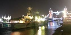 historic London - views of The Tower of London, Tower Bridge and HMS Belfast