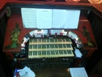 the organ at the Kinema in the Woods in Woodhall Spa