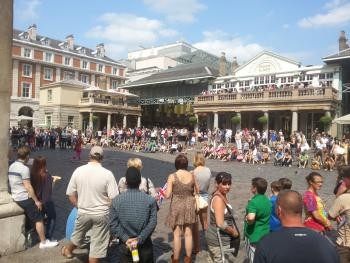 Covent Garden piazza full of people