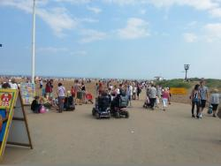 The scene in Skegness in summer - near the RNLI station