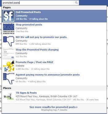 Facebook promoted posts cause a bit of a stir - on Facebook