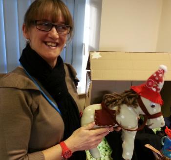 donkey with Diane Davies