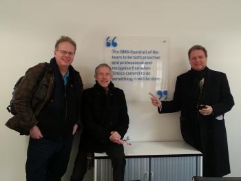 Trefor Davies Chris Darke and Martin Kelmanson