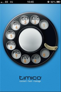 landline use Timico VoIP phone app for iPhone available from Apple App Store
