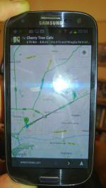 google maps on Samsung Galaxy S3