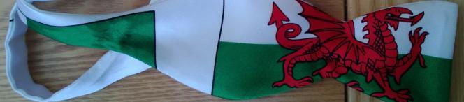 magnificent Welsh dragon bowtie