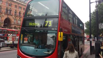 4G speed testing on a number 73 bus