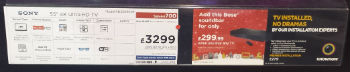 pricing for Sony 4K Ultra HD KD55X9005