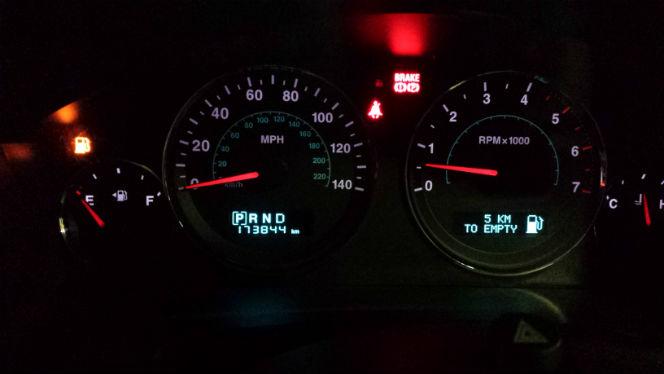5km left in tank